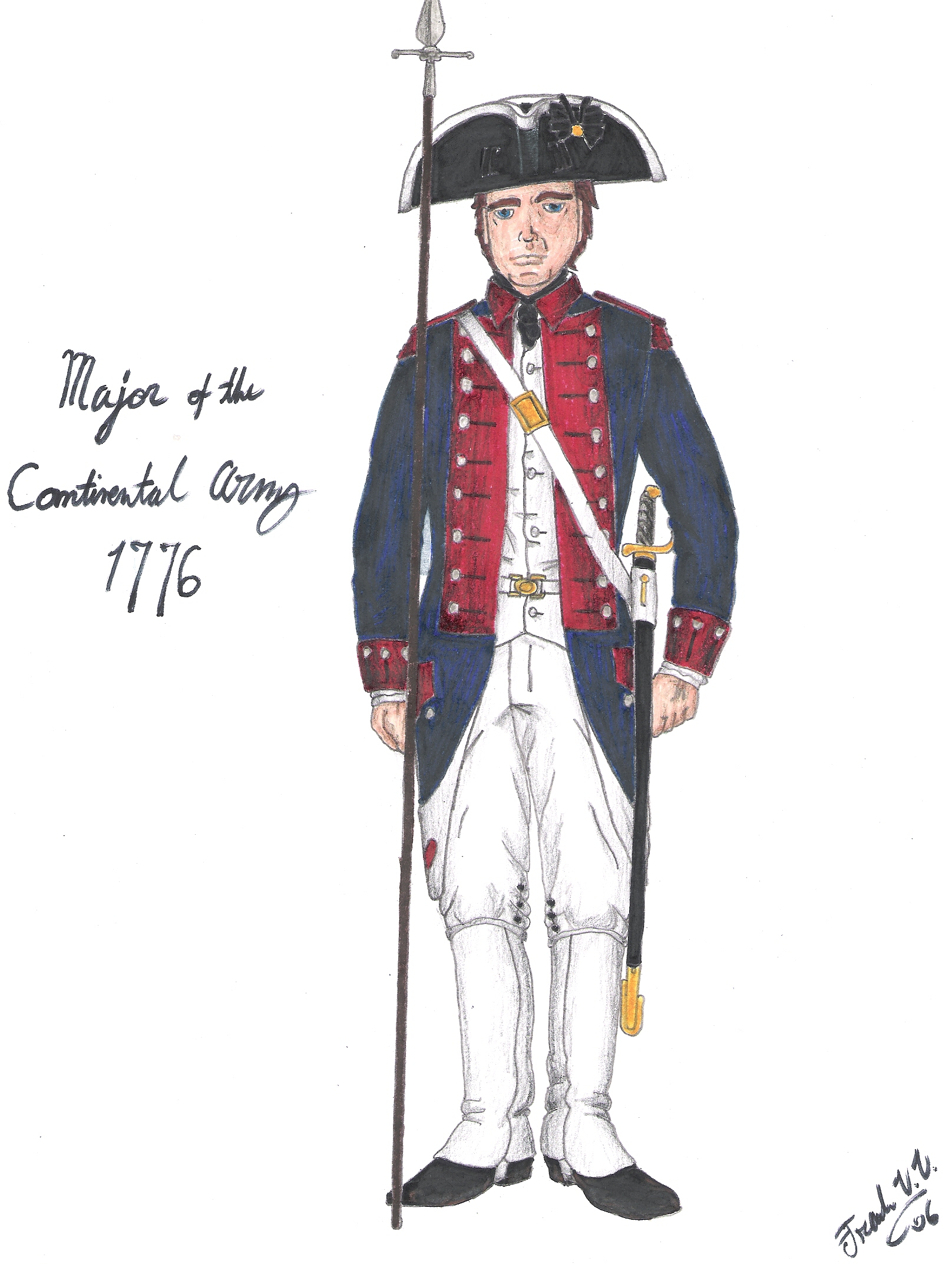 1616x2144 Major Of The Continental Army By Cdrejohnpauljones