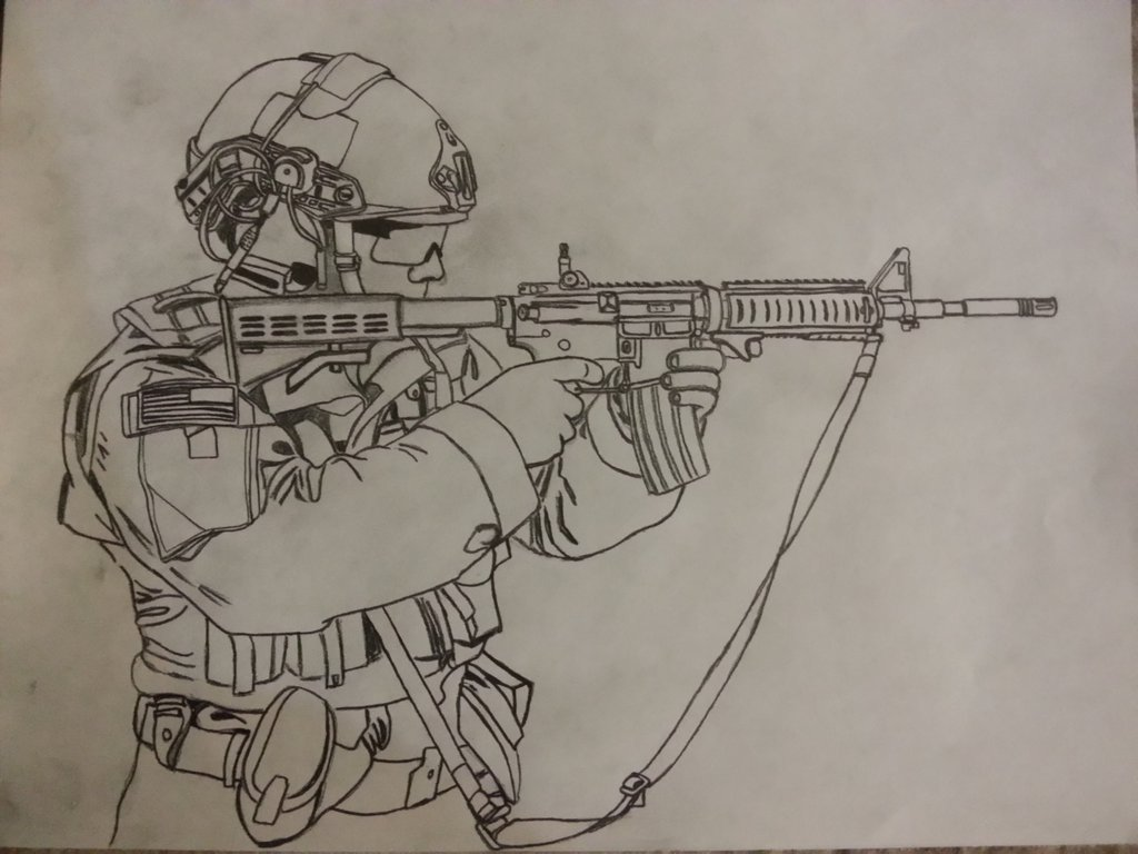 1024x768 Us Army Special Forces Soldier By J570
