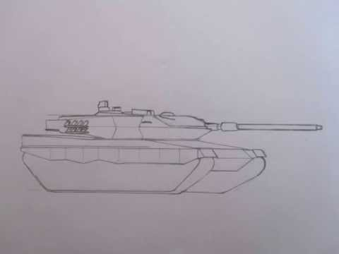 480x360 How To Draw Military Vehicles Leopard 2a6 Main Battle Tank