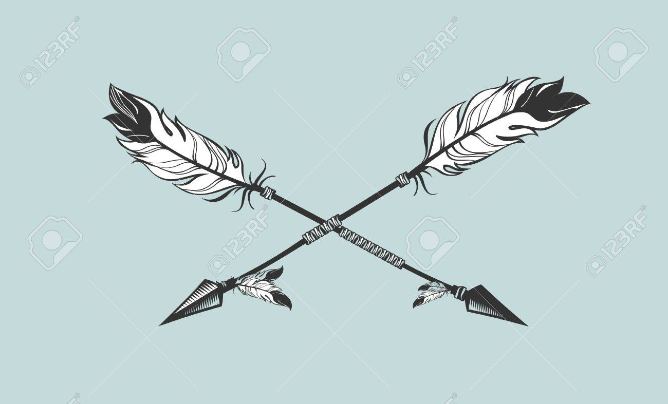 Arrow Feather Drawing at GetDrawings.com | Free for personal use ...