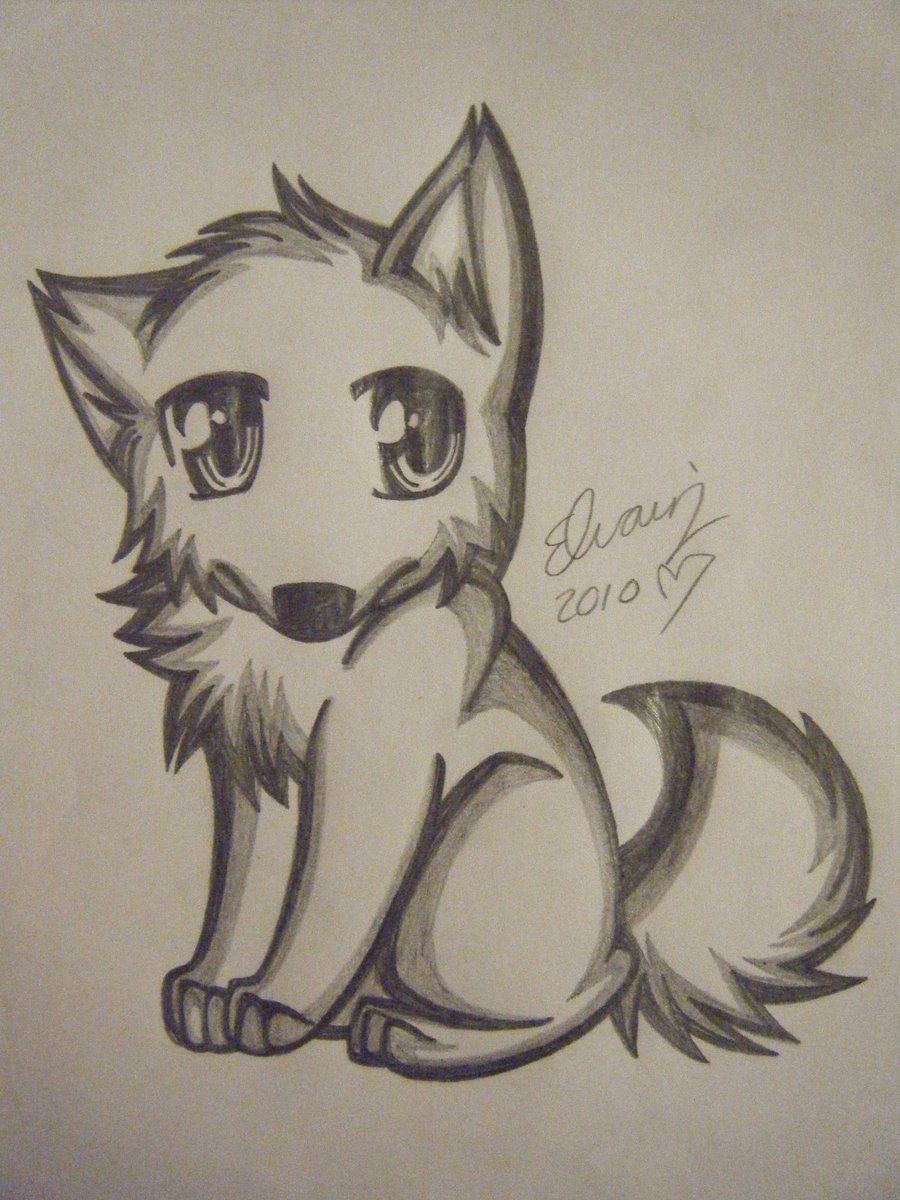 900x1200 Pencil Drawings Of Anime Wolf Drawing 4 By Animefan1863