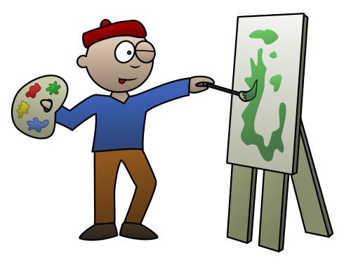 500x374 Drawing a cartoon artist