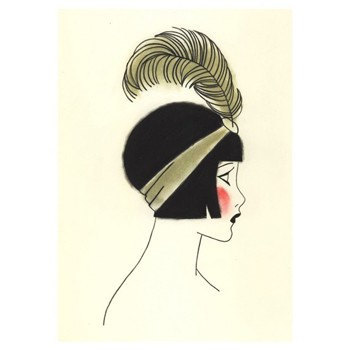 350x350 Art Deco Art Print Sale Set X 5 Sale Set Of Flapper Drawings
