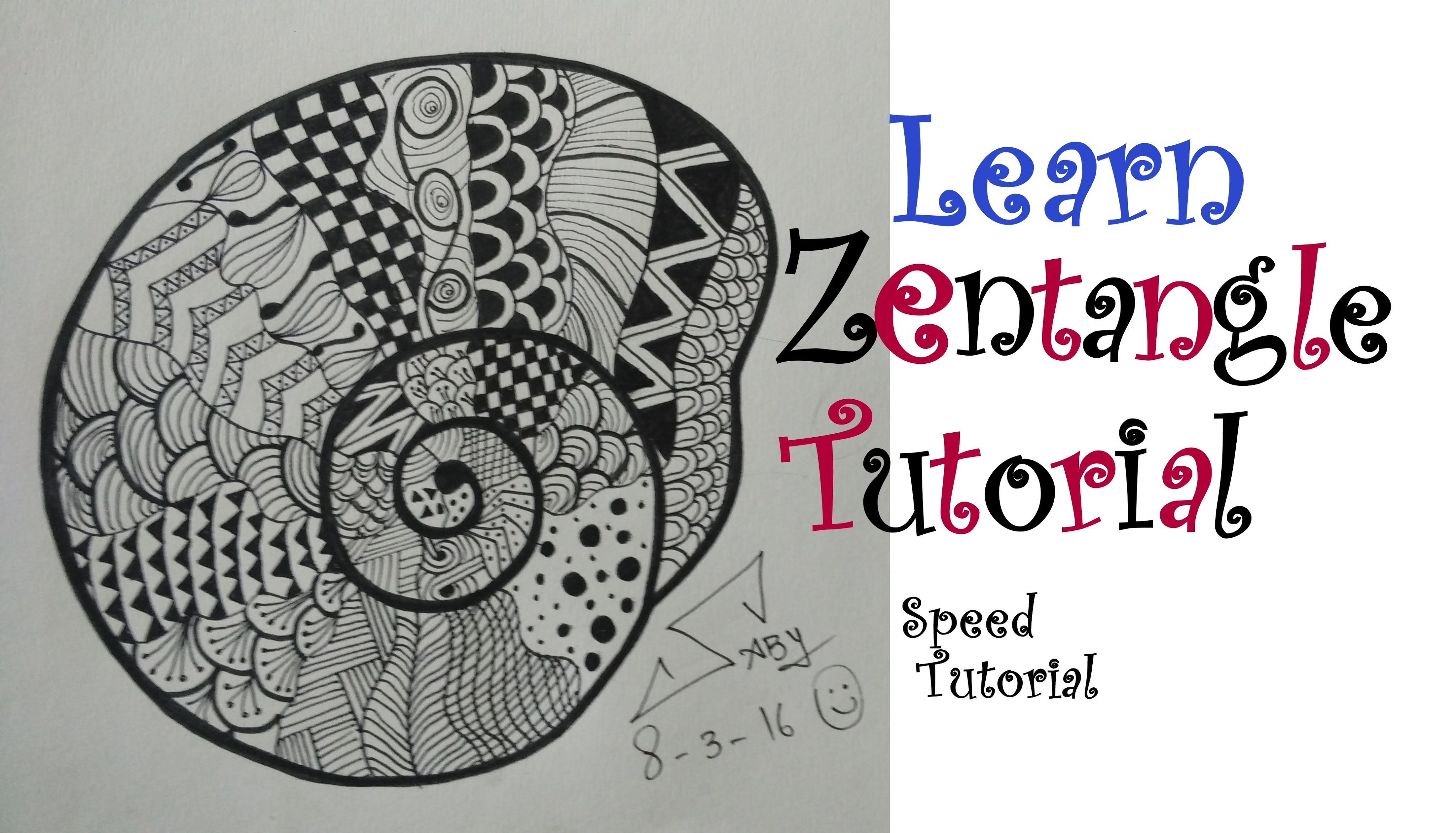4096x2345 How To Draw Easy Zentangle Art Design For Beginners, Easy Tutorial