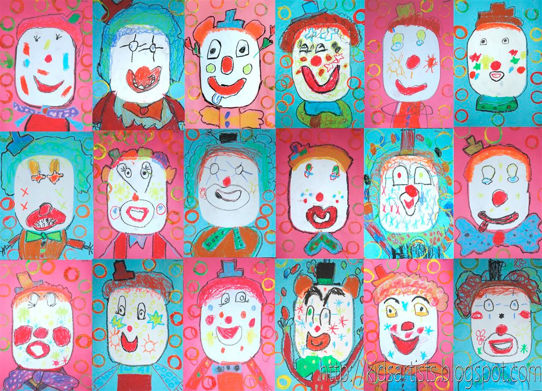 1065x768 Clowning Around Drawing And Painting Lessons For Kids Kinderart