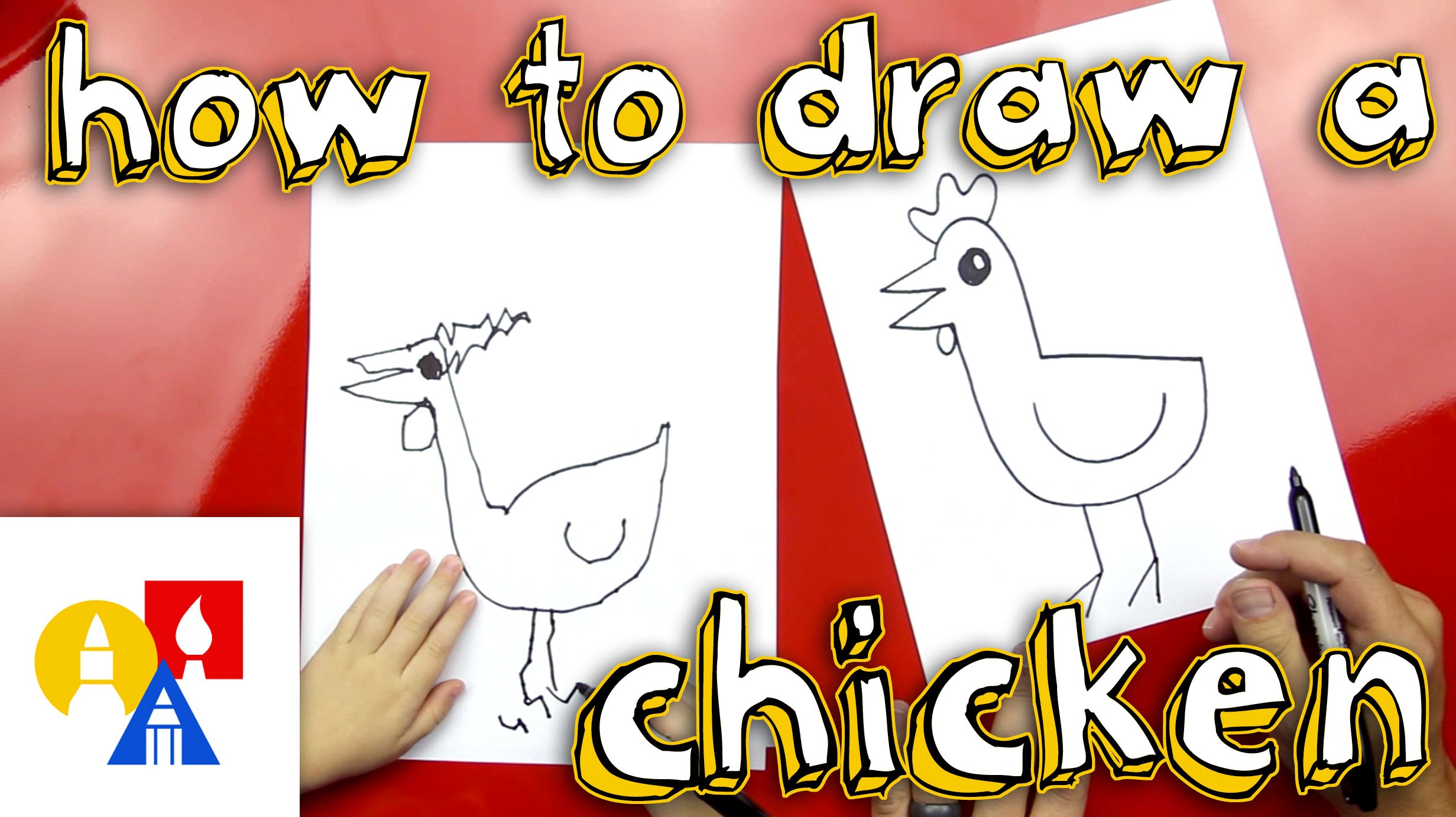 2463x1381 How To Draw A Chicken (For Super Young Artists)