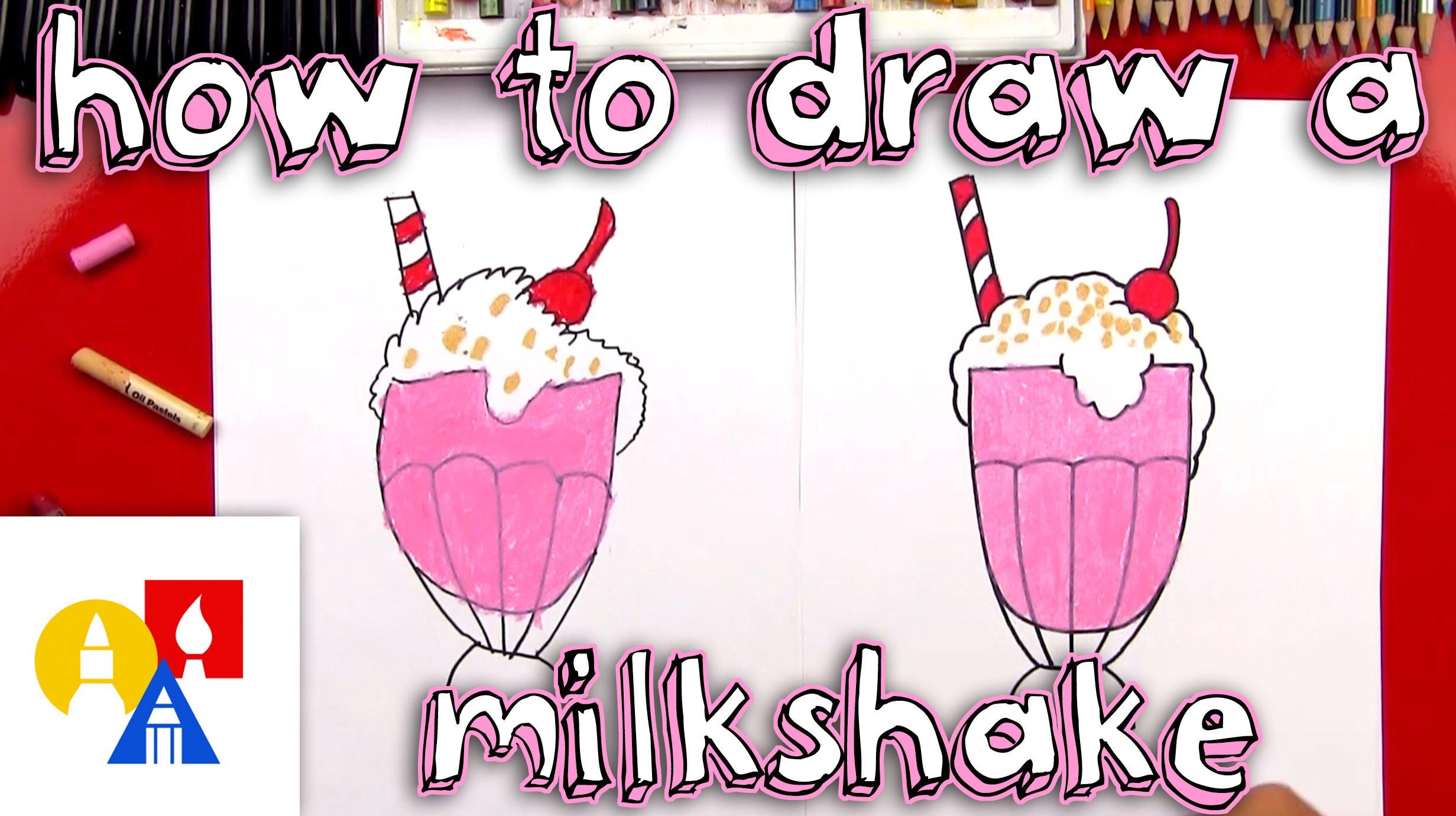 2463x1381 How To Draw A Milkshake