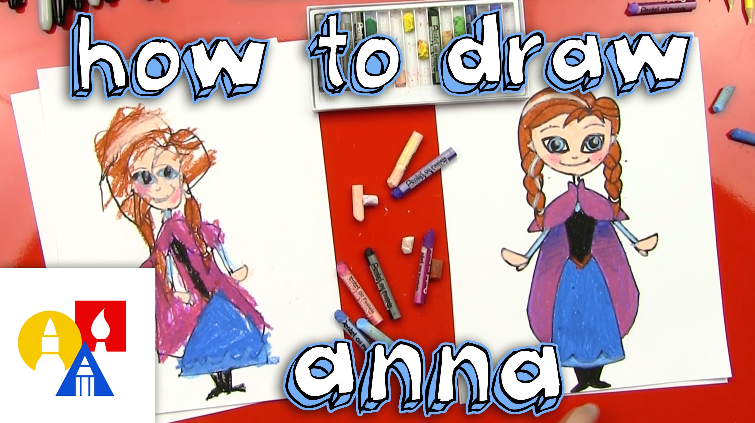 2463x1381 How To Draw Anna From Frozen (For Young Artists)
