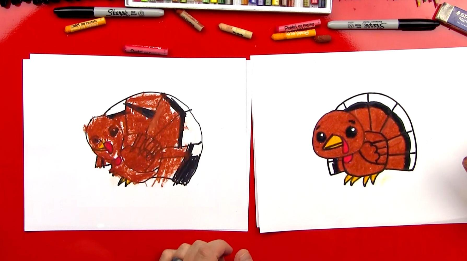 1788x1002 Draw A Cartoon Turkey How To Draw A Cartoon Turkey