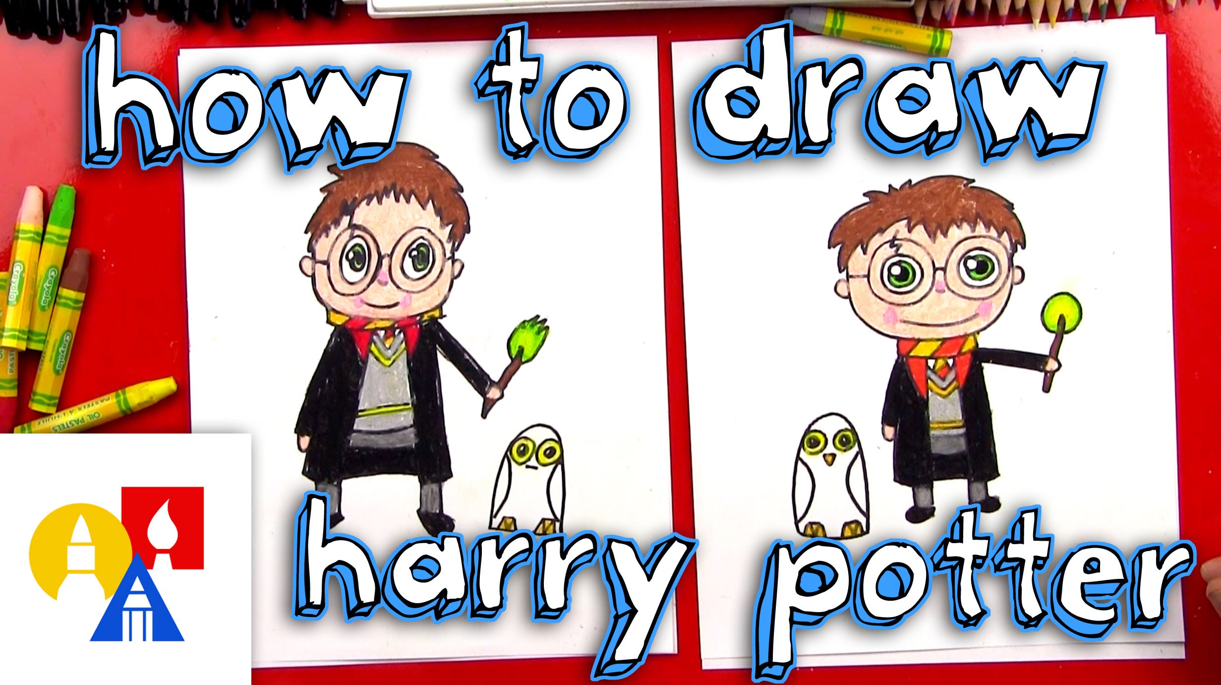 2463x1381 How To Draw A Cartoon Harry Potter And Hedwig