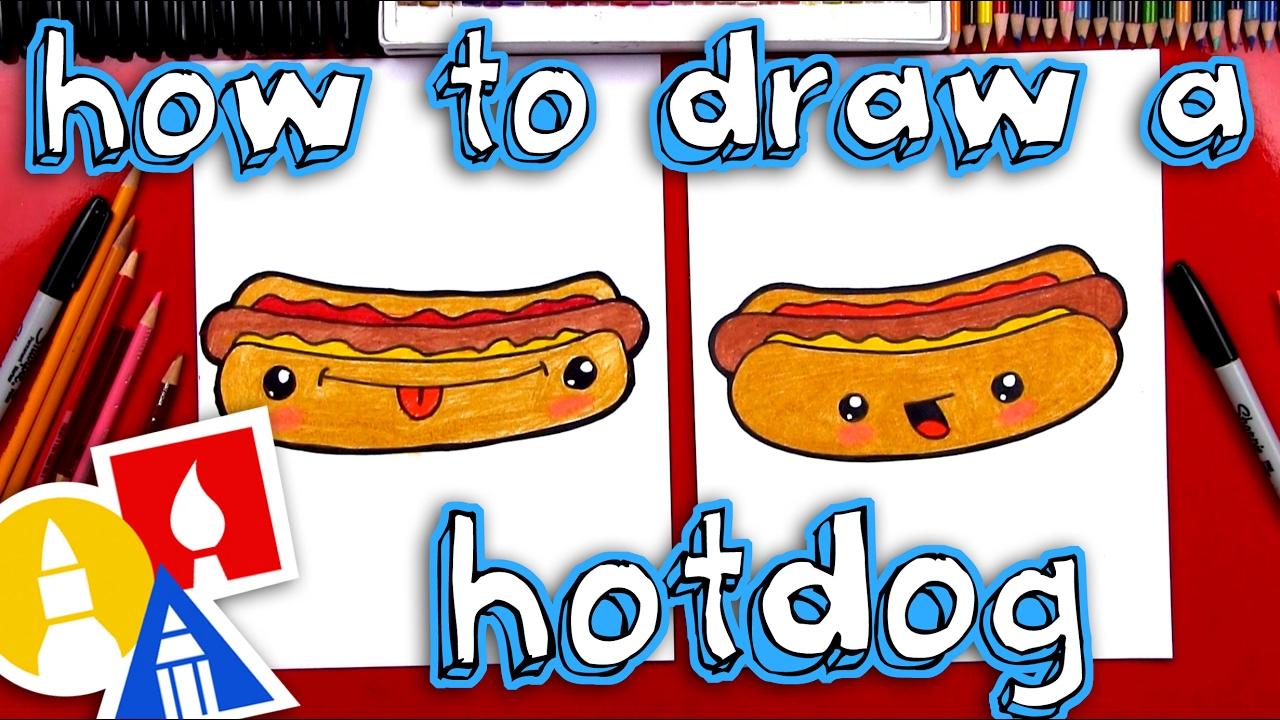 1280x720 How To Draw A Funny Hotdog