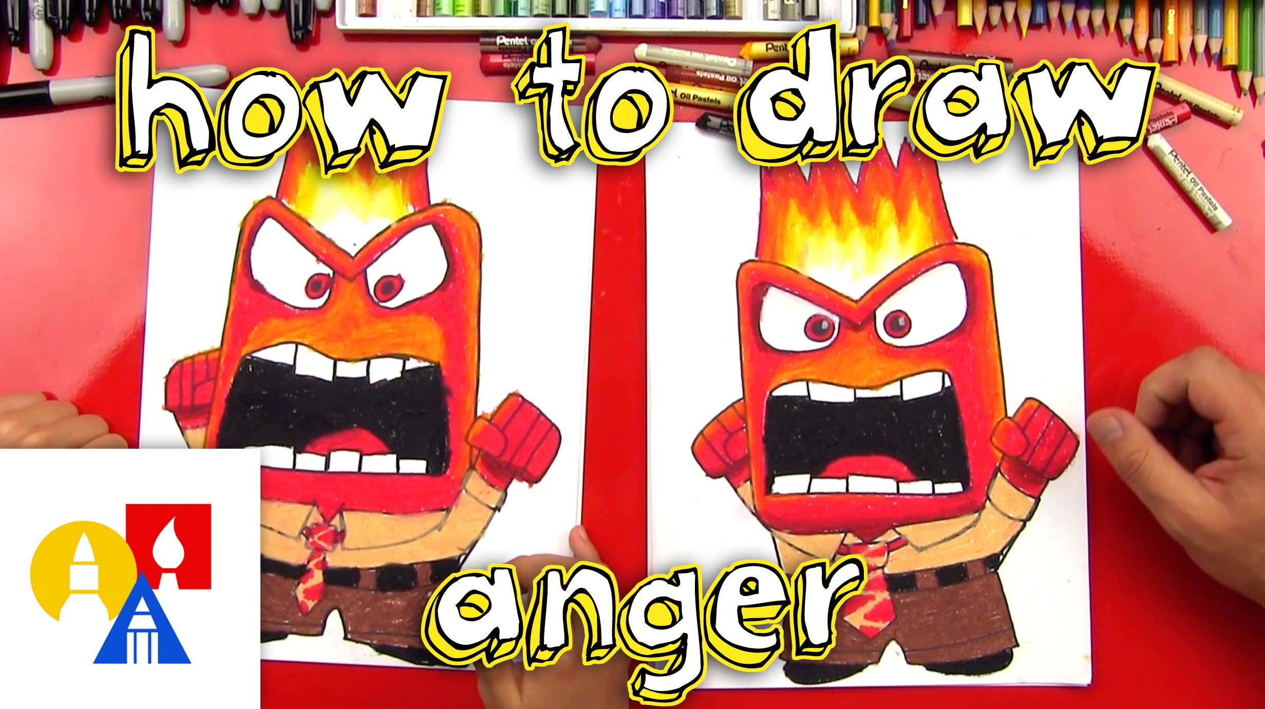 2463x1381 How To Draw Anger From Inside Out