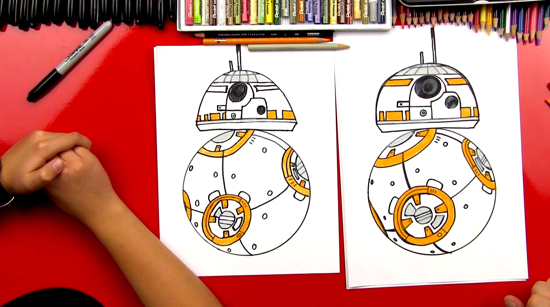 1909x1067 How To Draw Bb 8 From Star Wars
