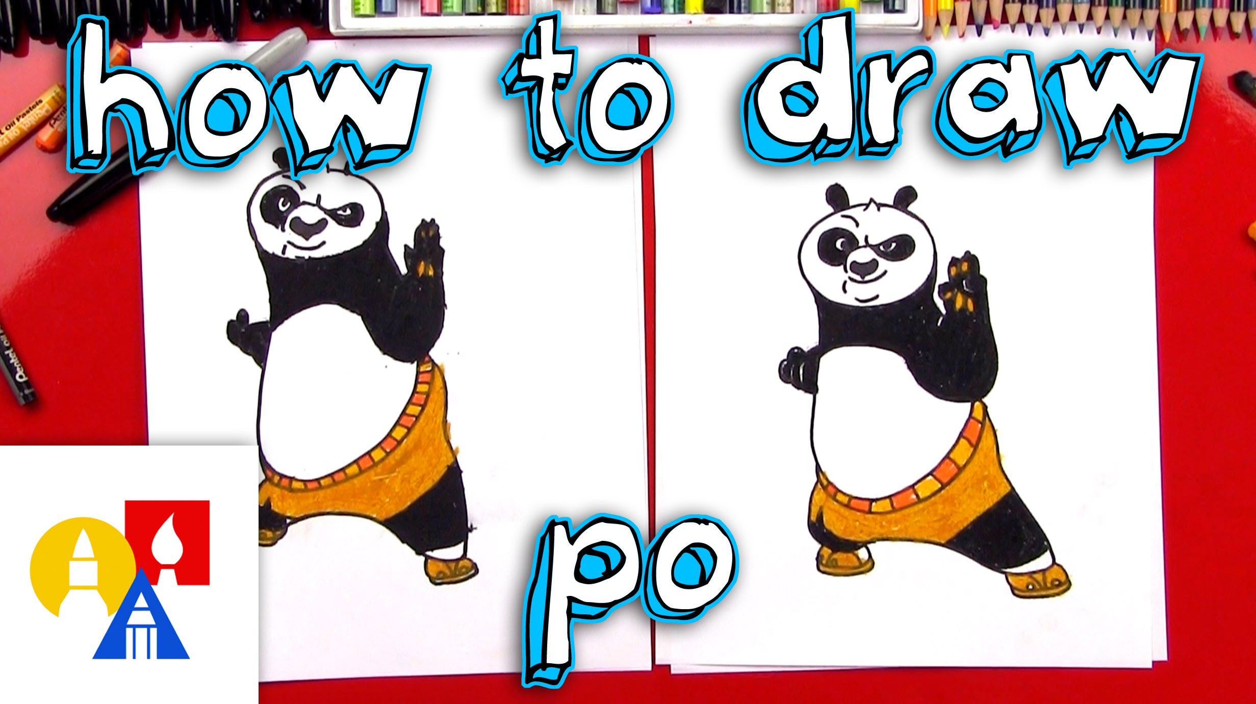 2463x1381 How To Draw Po From Kung Fu Panda