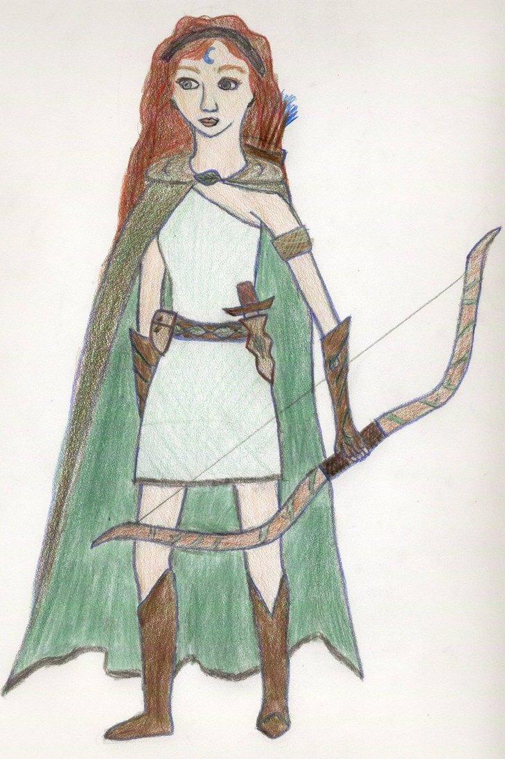 729x1095 Artemis, Goddess Of The Hunt By Eyowin Lindar
