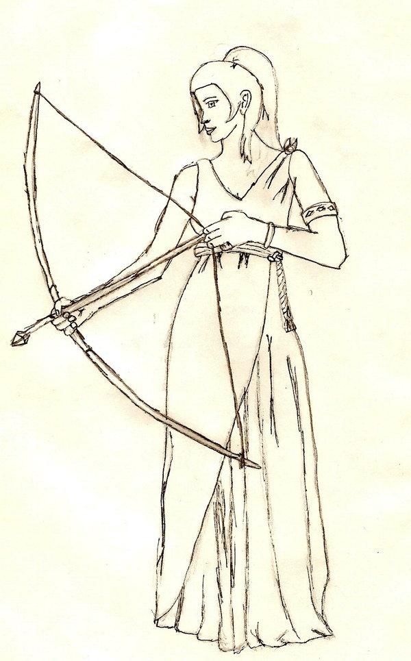 600x965 Artemis Goddess Of The Hunt By Obito Kun
