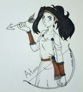 320x357 Artemis Drawings On Paigeeworld. Pictures Of Artemis