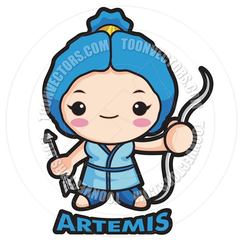 940x940 Greek Goddess Artemis Drawing Cartoon Cartoon Goddess Artemis