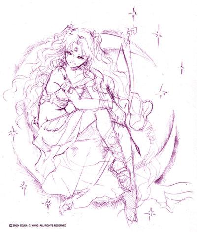 400x471 Oc Sketch Artemis By Zeldacw