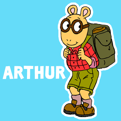 400x400 How To Draw Arthur From Pbs's Arthur With Illustrated Steps Lesson