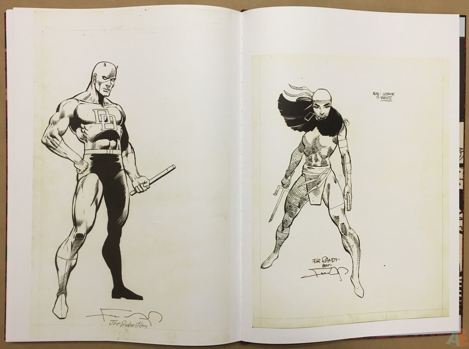 1600x1189 Frank Miller's Daredevil Artifact Edition Artist's Edition Index