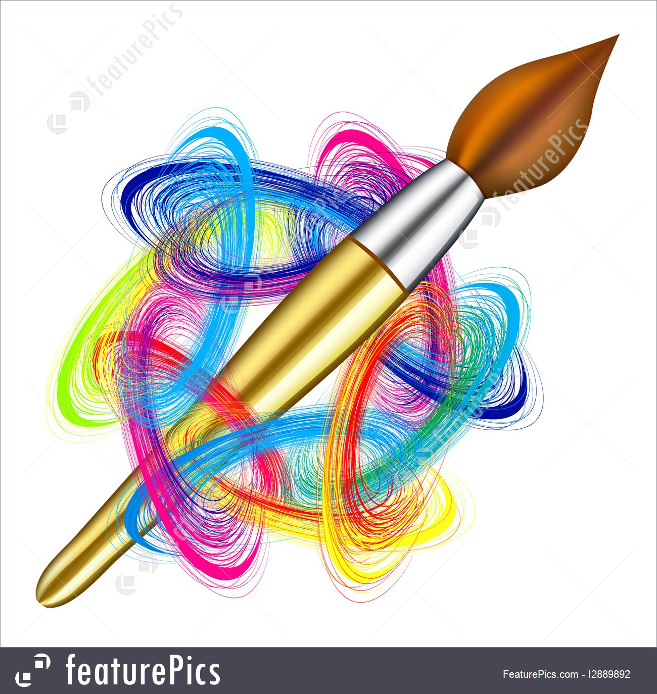 1300x1374 Artistic Tools Vector Artist's Palette And Brush