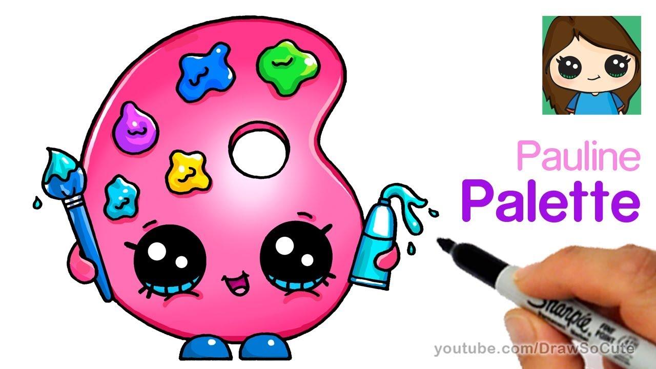 1280x720 How To Draw A Cute Paint Palette Shopkins Pauline Palette