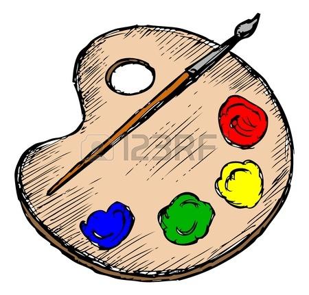 450x431 Paint Palette. Hand Drawn Vector Illustration Sketch, Doodles