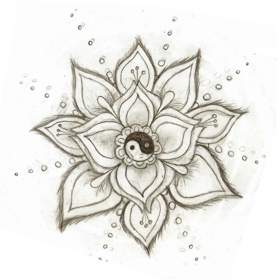 894x894 Yin Yang Flower By Skysage