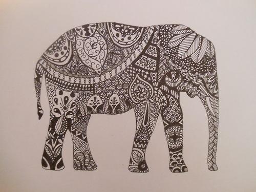500x375 Zentangle Animals Animal Zentangle Patterns Elephant Drawing