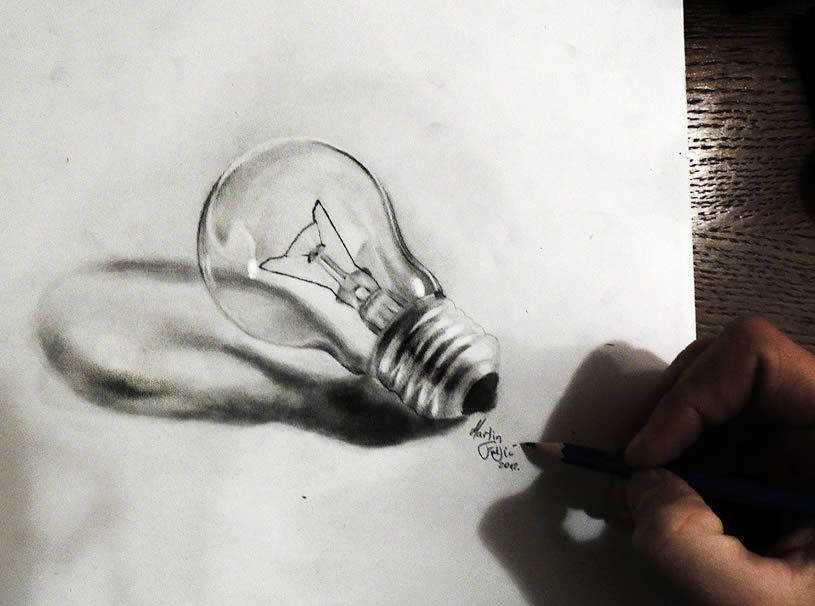 815x606 pencil art turn on the light scene360