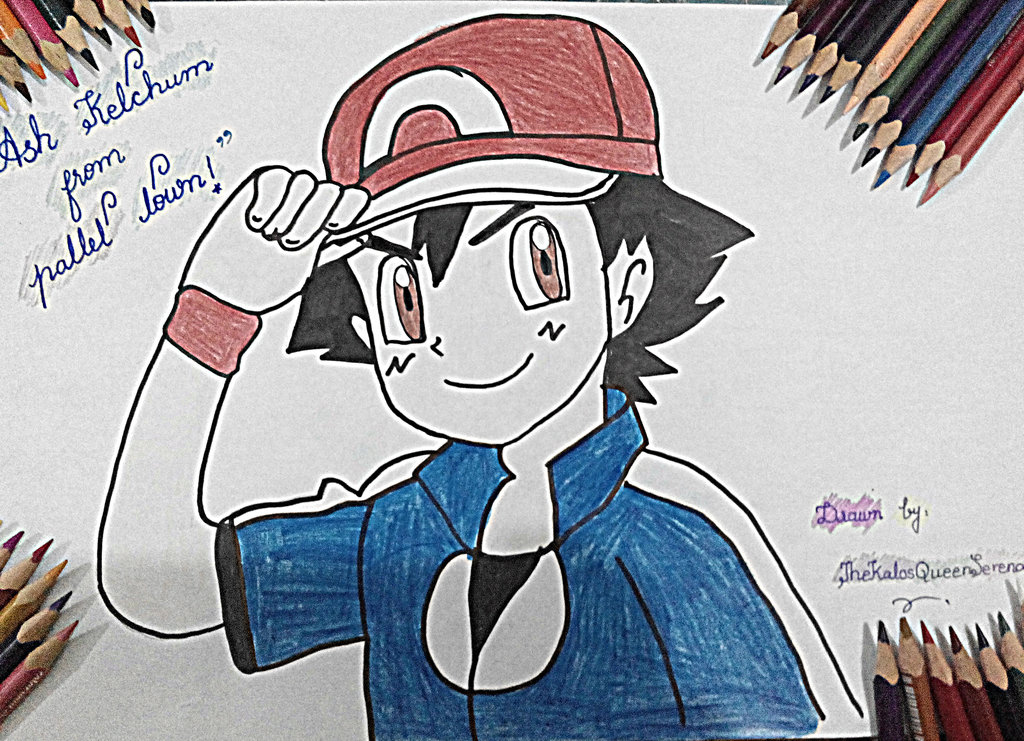 1024x741 Ash Ketchum (Xyz)~hand Drawing 12 By Thekalosqueenserena