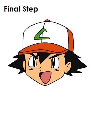 300x388 How To Draw Ash Ketchum