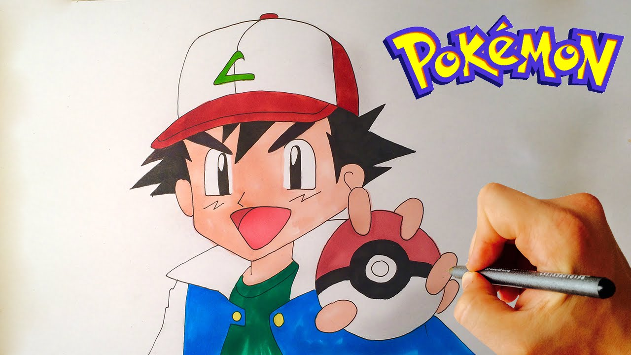 1280x720 How To Draw Ash Ketchum From Pokemon Drawing Lesson