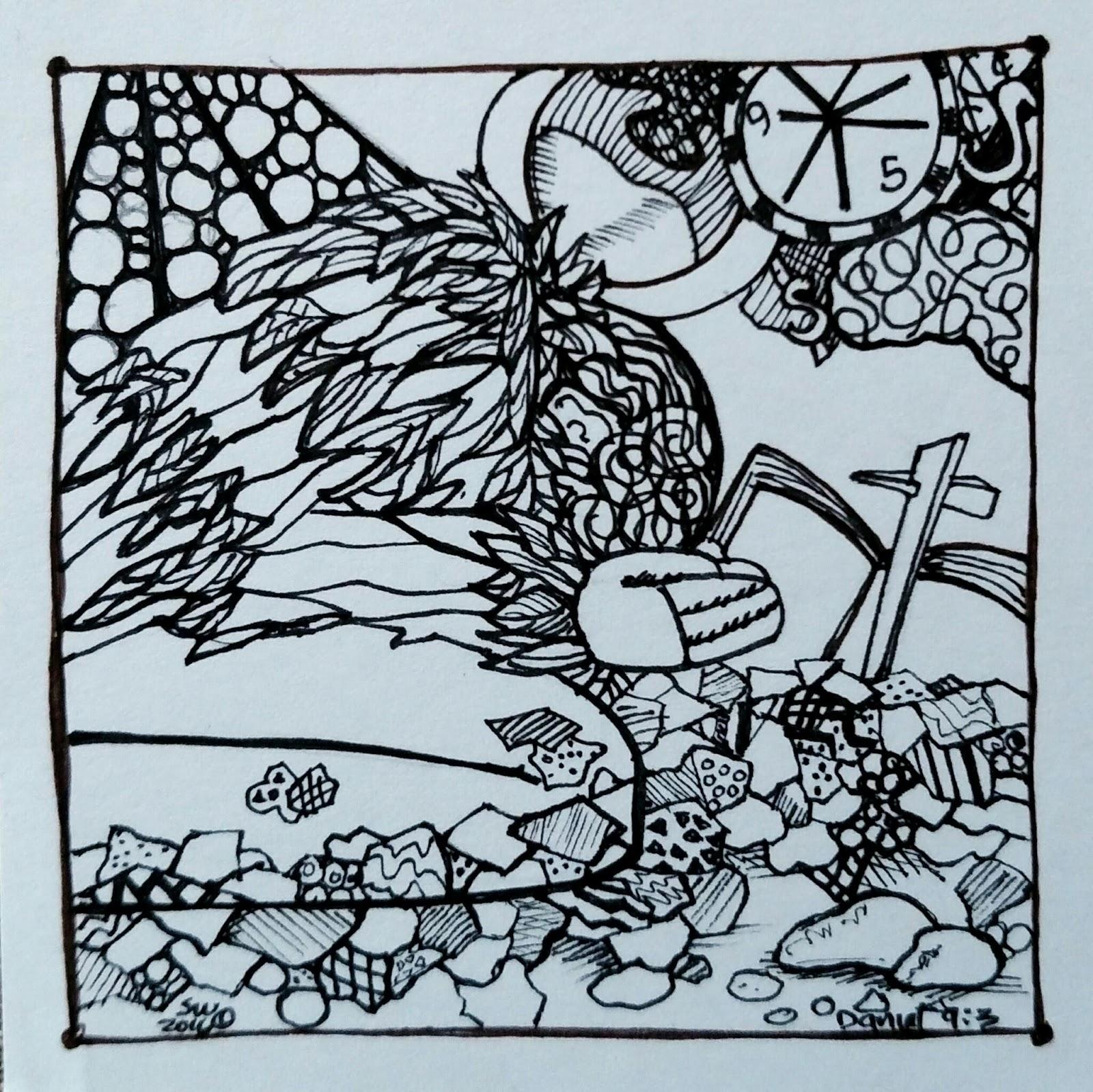 1600x1599 Susan Walker Art Artful Lent Drawing Ash Wednesday