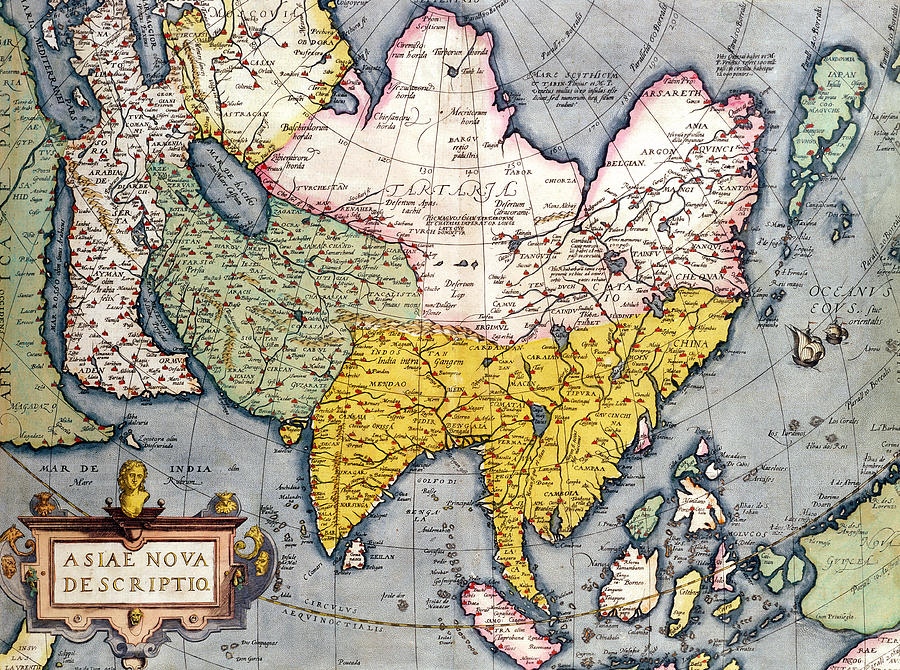 900x670 antique map of asia drawing by claes jansz