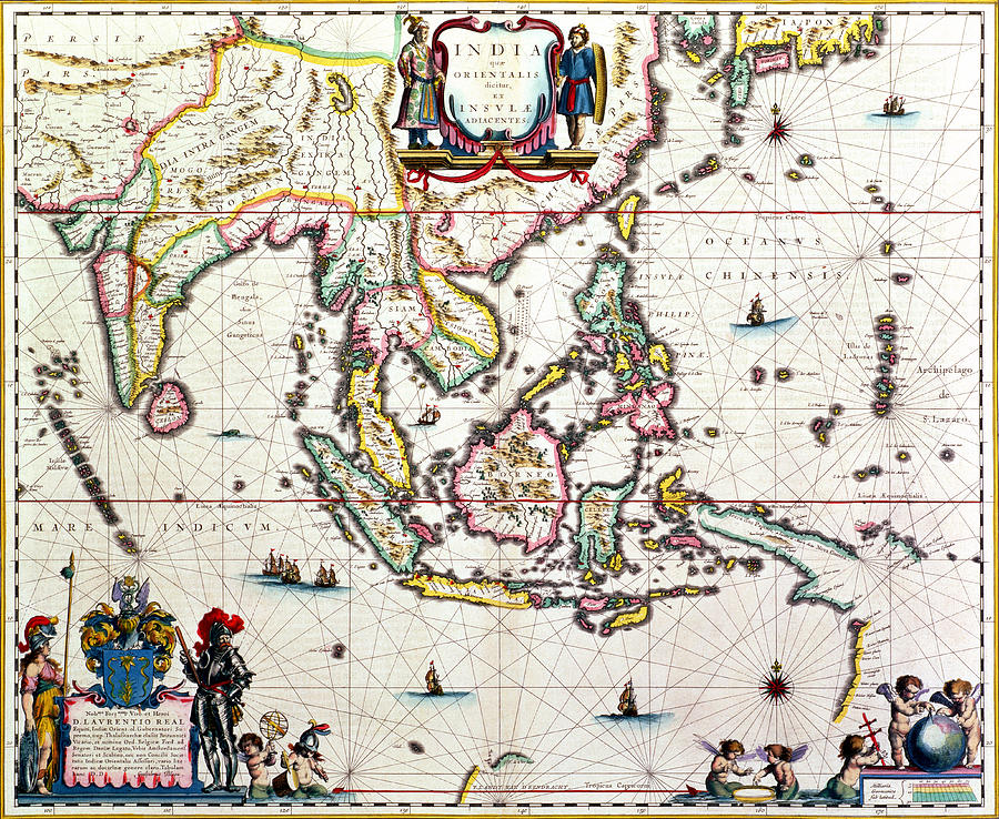 Asia map drawing at getdrawings free for personal use asia map 900x738 antique map showing southeast asia and the east indies drawing by gumiabroncs Choice Image