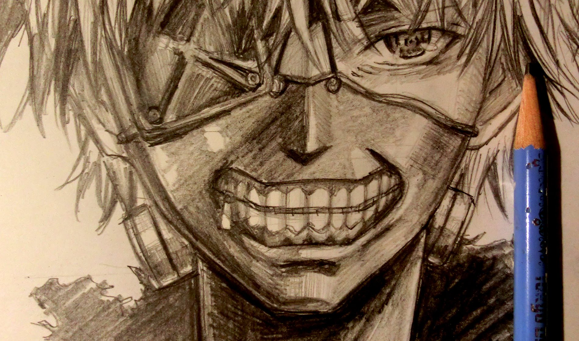 1899x1120 Asmr Pencil Drawing 11 Tokyo Ghoul (Request)