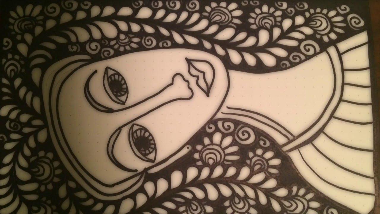 1280x720 Asmr Another Face Doodle (Asmr Drawing Sounds, Doodle, Tingles