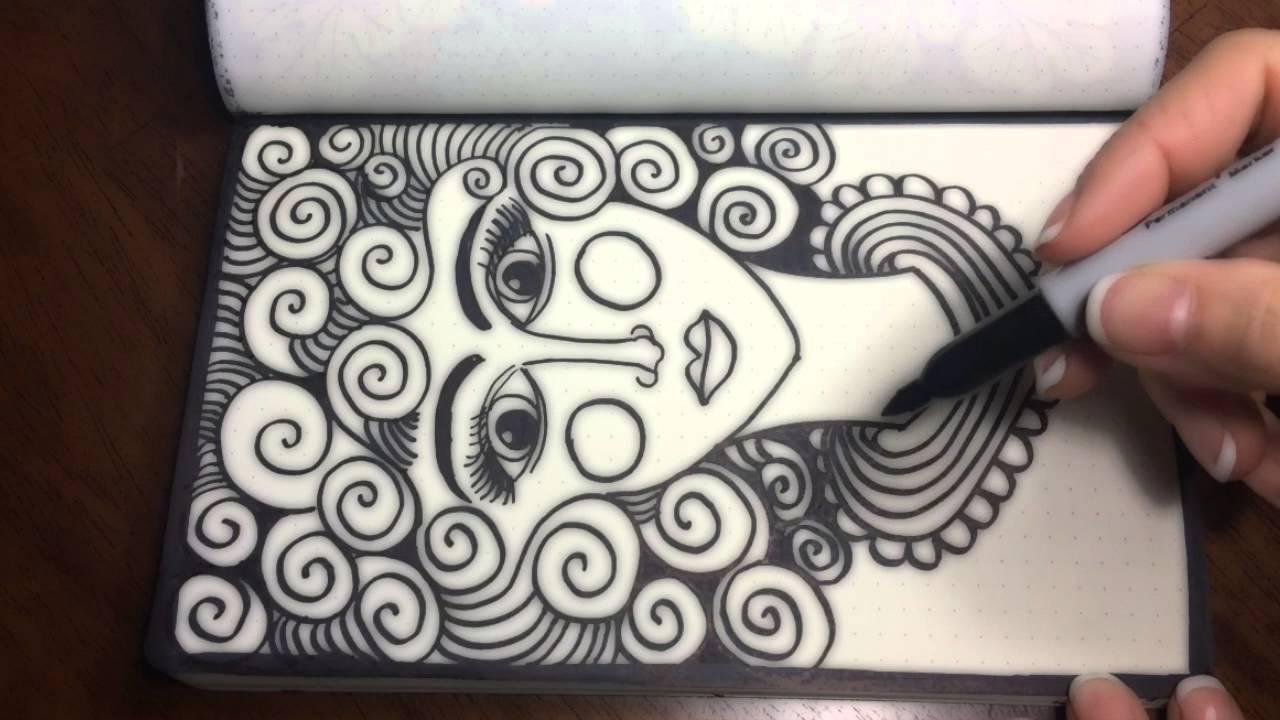 1280x720 Asmr Doodle Face (Asmr, Drawing, Doodling, Tingles, Tangles
