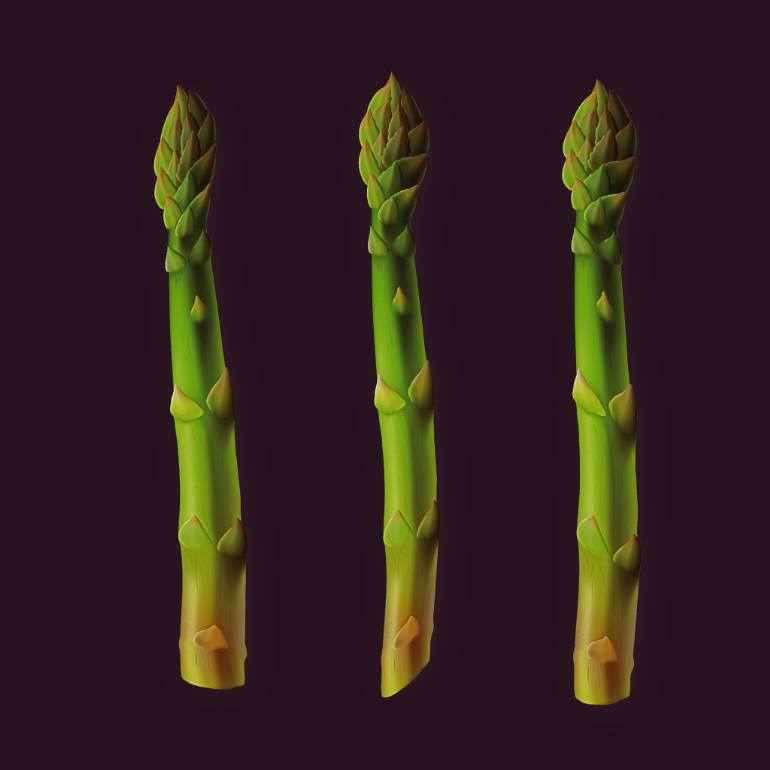 770x770 Saatchi Art Green Asparagus Drawing By Ary Van Baalen