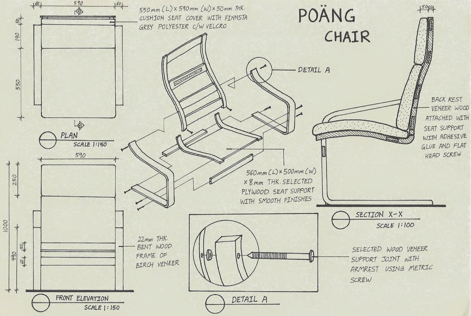 1600x1073 Yii Min In.design Assembly Drawing Poang Chair By Ikea