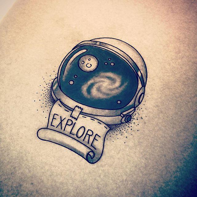 640x640 Astronaut Helmet Tattoo!