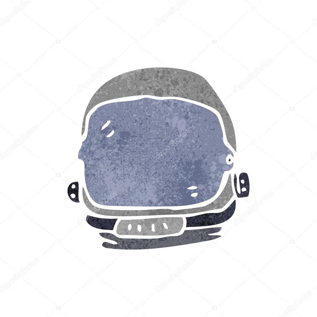 1024x1024 Retro Cartoon Astronaut Helmet Stock Vector Lineartestpilot