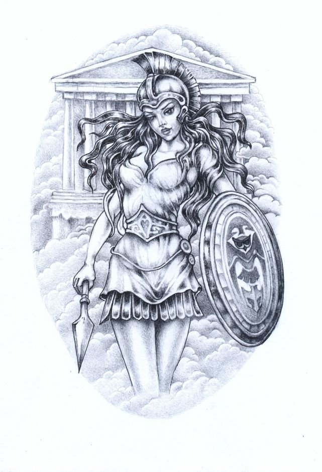 Athena Drawing At Getdrawings Com Free For Personal Use