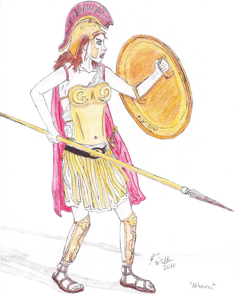 Athena Goddess Drawing At Getdrawings Com Free For