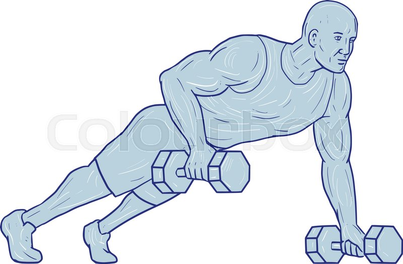 800x524 Drawing Sketch Style Illustration Of An Athlete Working Out Doing