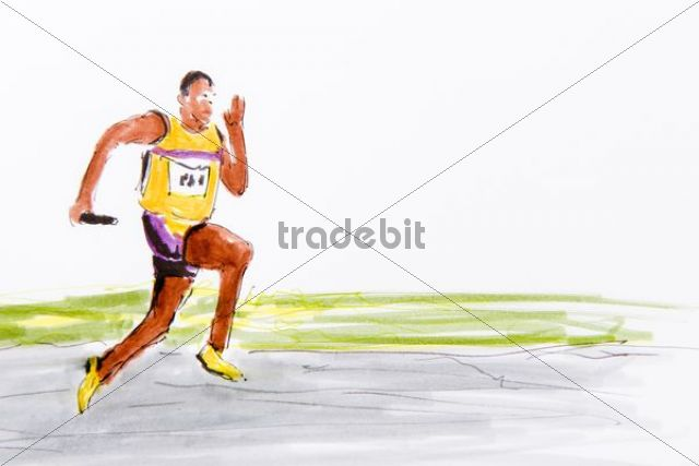 640x427 Relay Race, Track And Field Athletics, Drawing By The Artist Gerhar