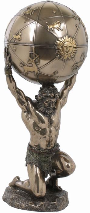 296x696 Atlas Holding Globe Trinket Box Mythology, Roman Mythology