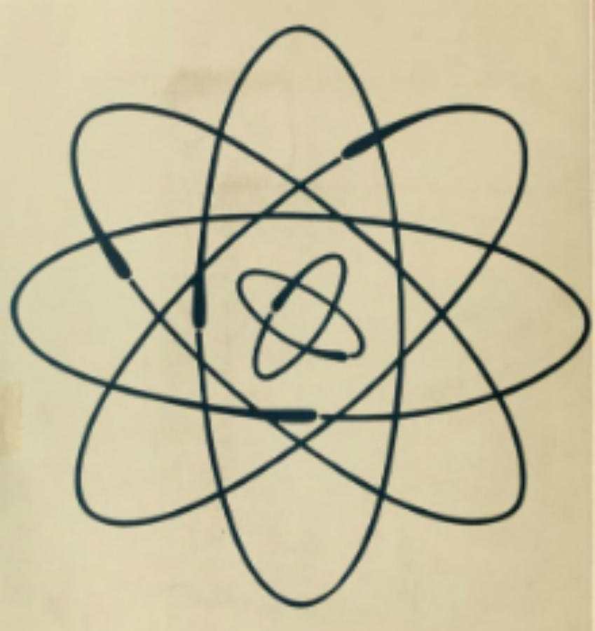 849x900 Vintage Science Atom Drawing By Carrie Martin